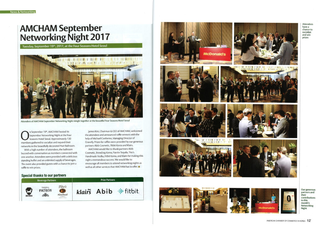 Klairs sponsors a networking event for the AMCHAM