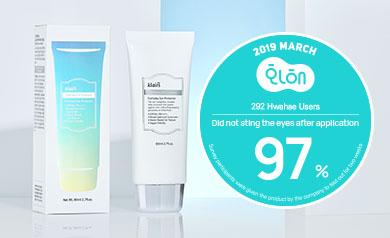 96% User Satisfaction on Hwahae! Klairs Soft Airy UV Essence